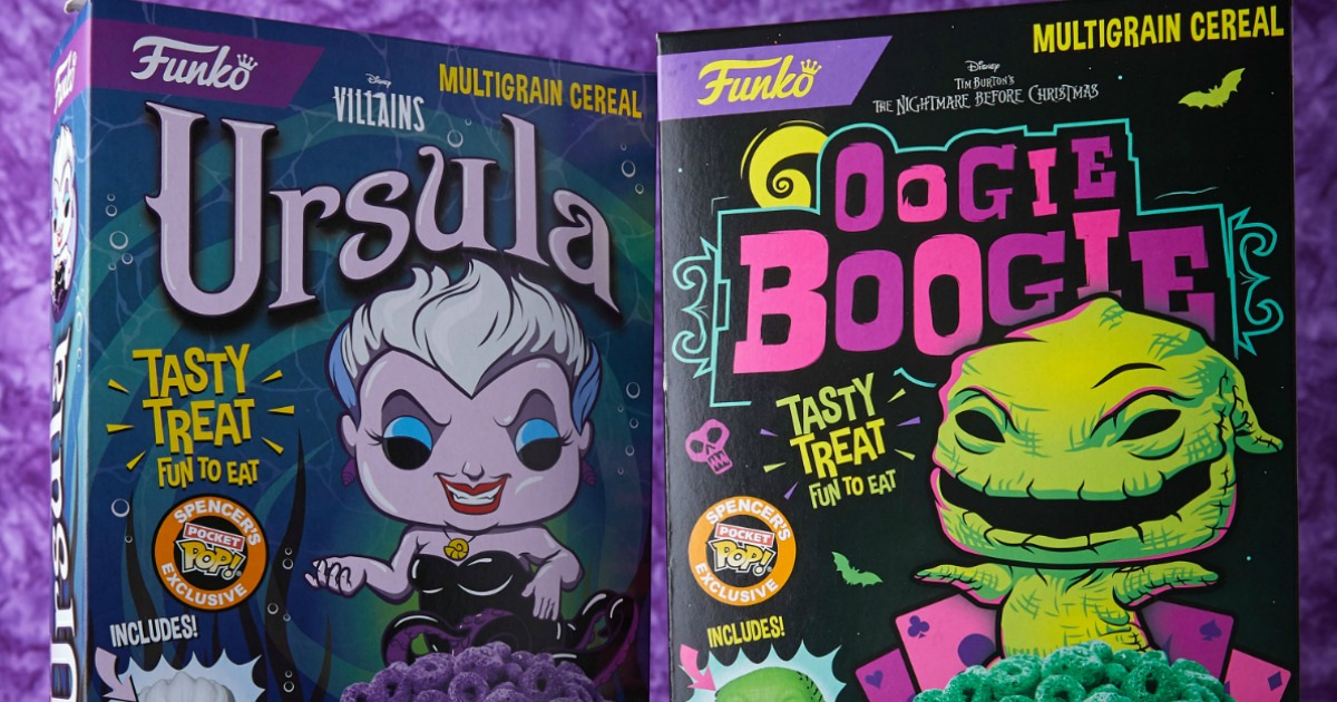 2 boxes of Funko Villain Cereals