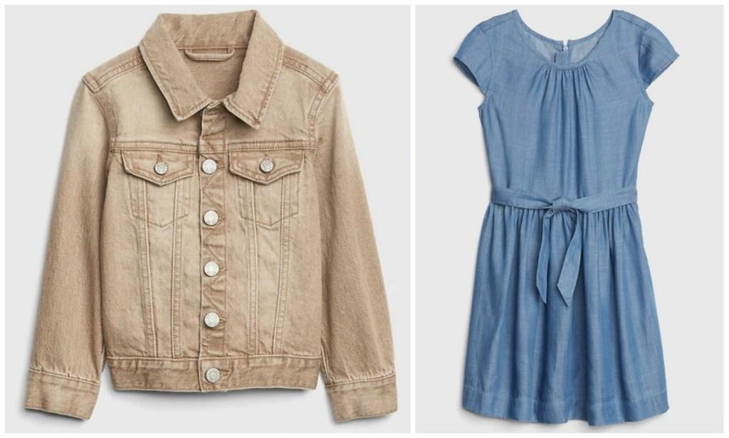 GAP Kids denim jacket and dress
