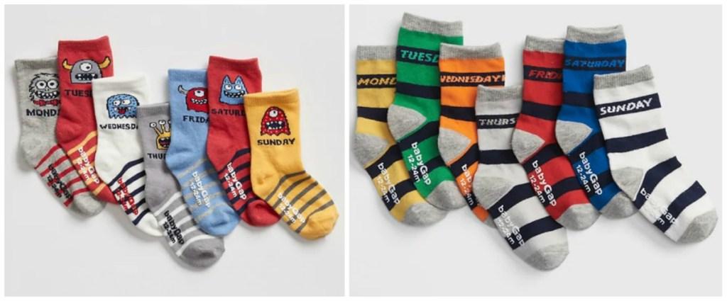 GAP Toddler days of the week socks