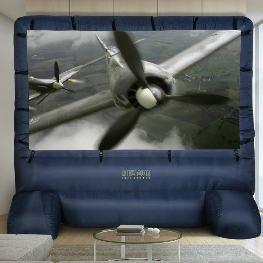 Large 144-inch inflatable movie screen