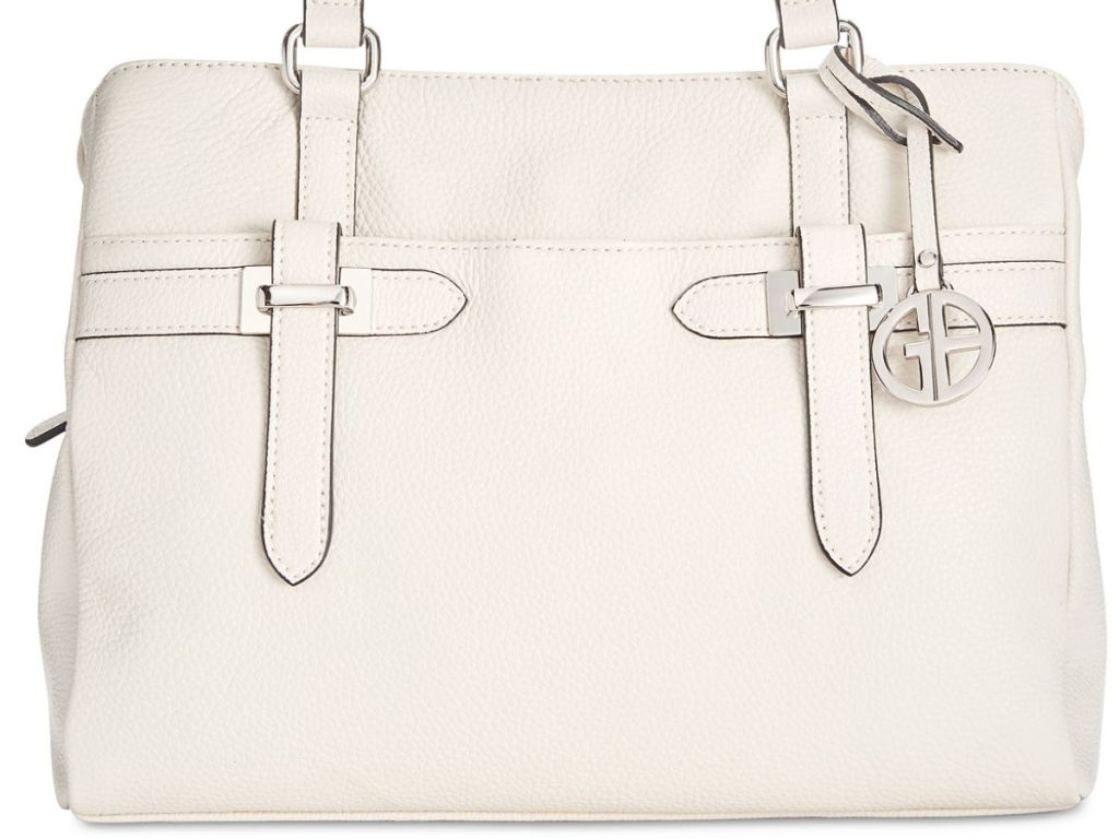 Giani Bernini Bridle Leather Tote in ivory
