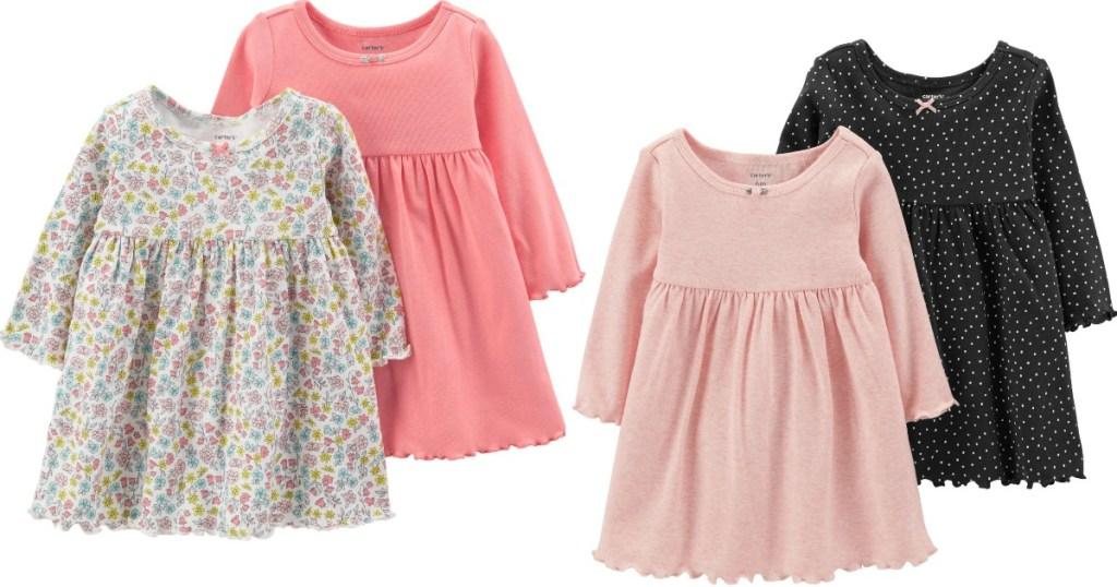 Carters Girl's Dress 2-packs