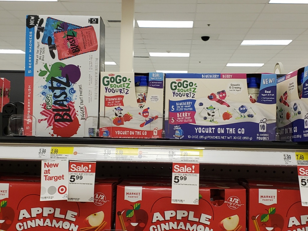 GoGo Squeeze Products at Target