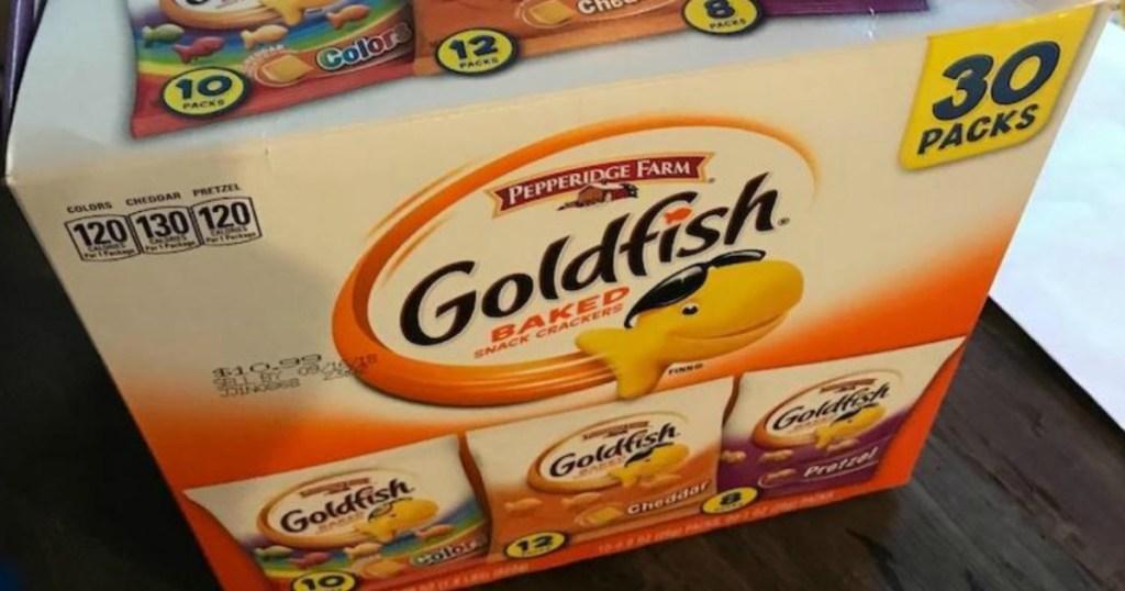 box of goldfish