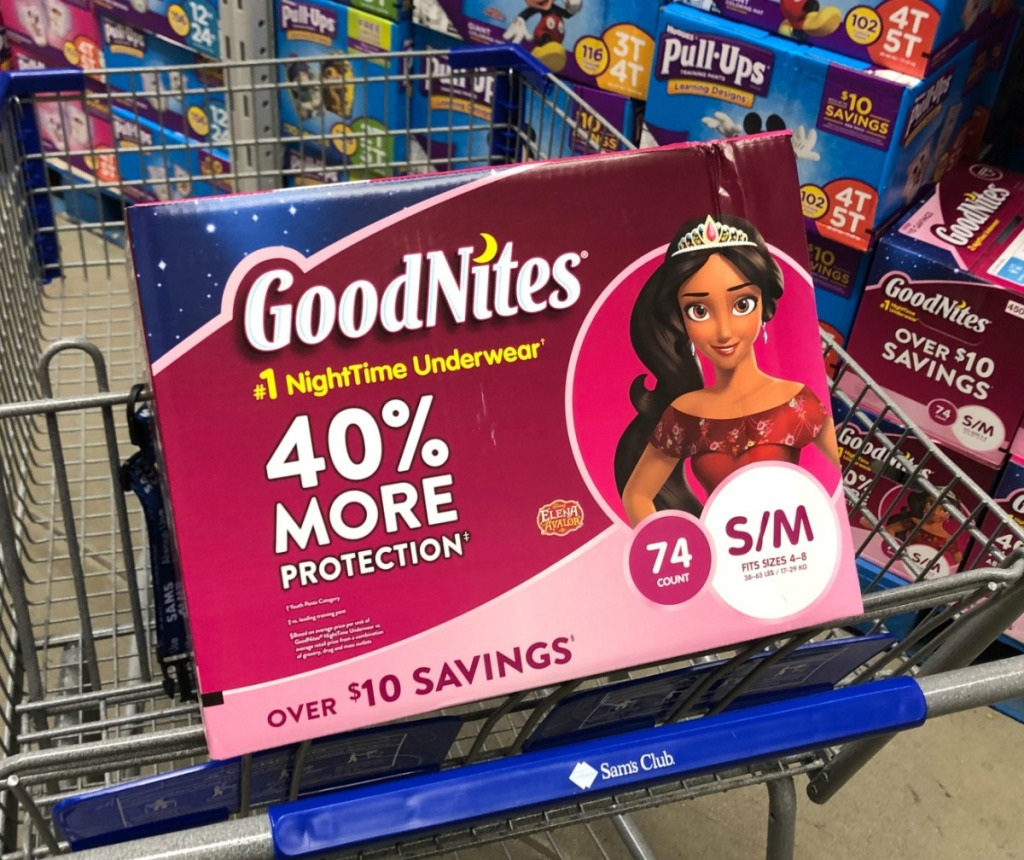 GoodNites brand nighttime underwear for kids in girls
