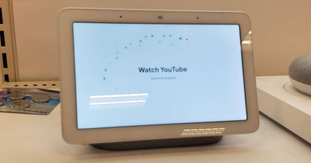 Google Home Hub on display
