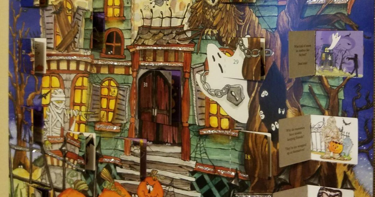 Halloween Advent Calendars with ghost