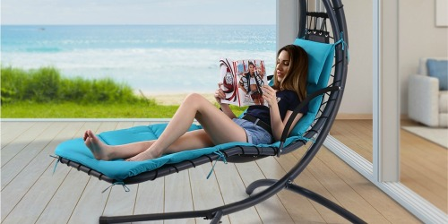 Hanging Canopy Chaise Lounge Chair Only $115.99 Shipped at Walmart | Available in 5 Colors