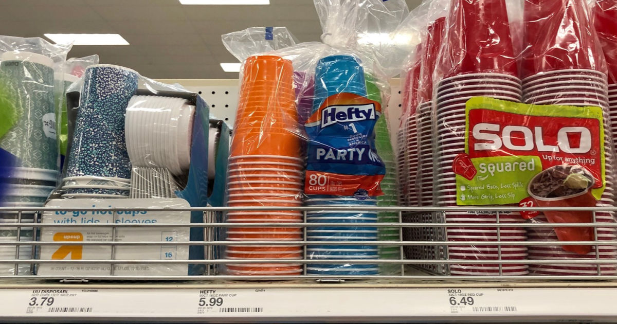 target shelf with Hefty Party On Disposable Cups