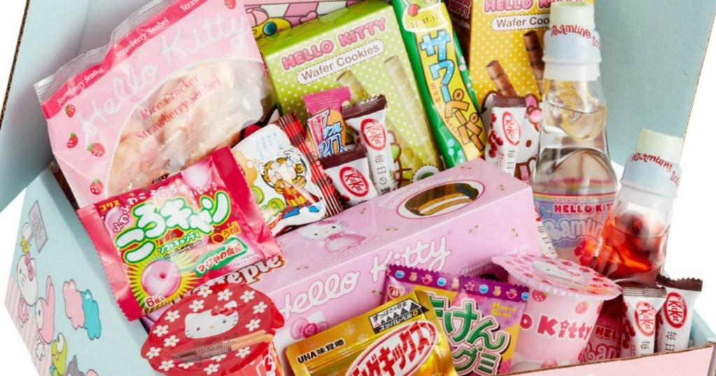 Hello Kitty Sanrio Mystery Snack Box contents
