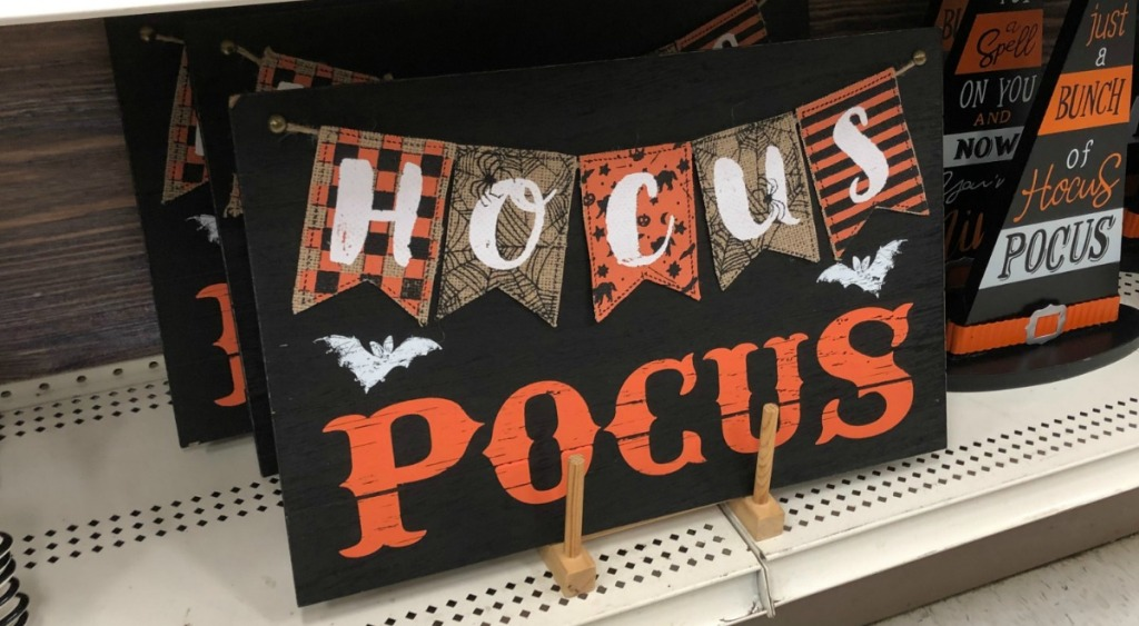 """Halloween Sign at Michael's that says """"Hocus Pocus"""""""