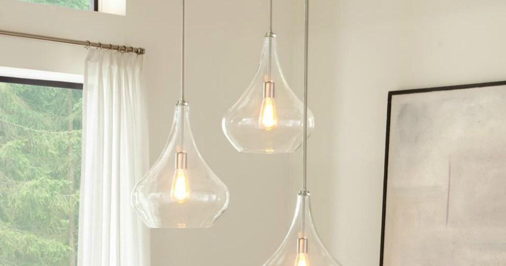 lights hanging in kitchen