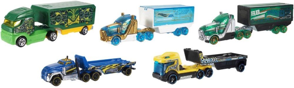 variety of Hot Wheels Trucks