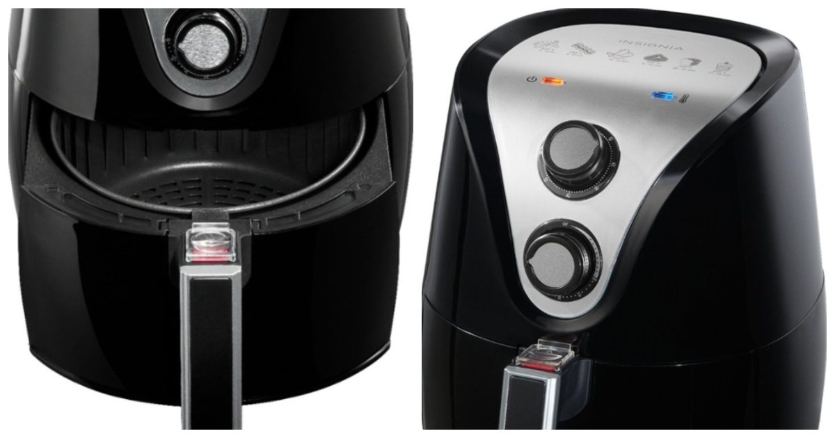 side and front view of the Insignia Air fryer