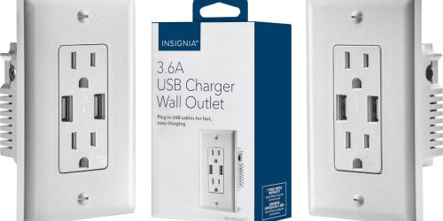 USB Charger Wall Outlet Only $9.99 at BestBuy.com (Regularly $30)
