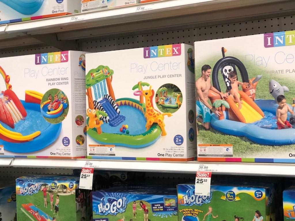 Intex Jungle Play Center on shelf at Target