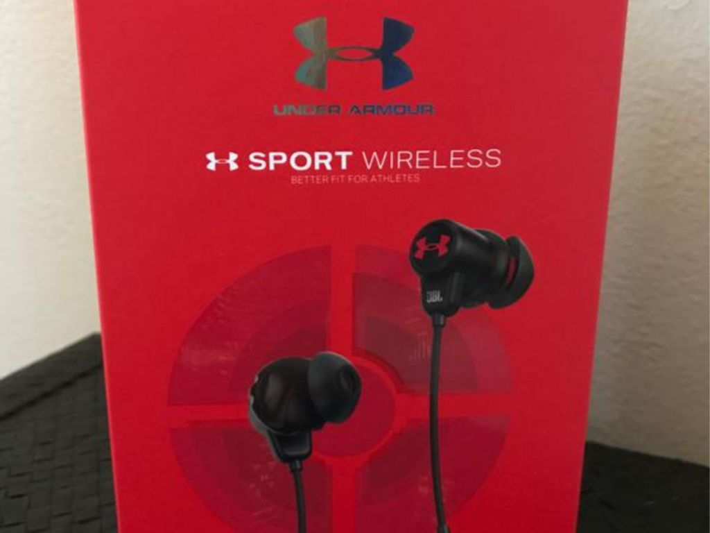 closed box of JBL Under Armour Sports Wireless