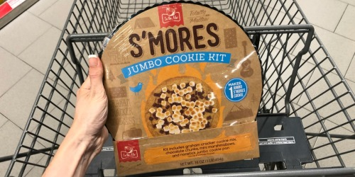 S'mores Jumbo Cookie Kits Now at ALDI | Includes Nonstick Jumbo Cookie Pan