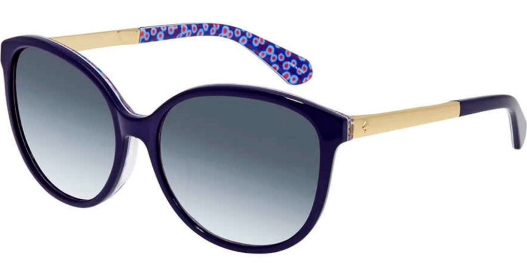 women's purple and gold sunglasses