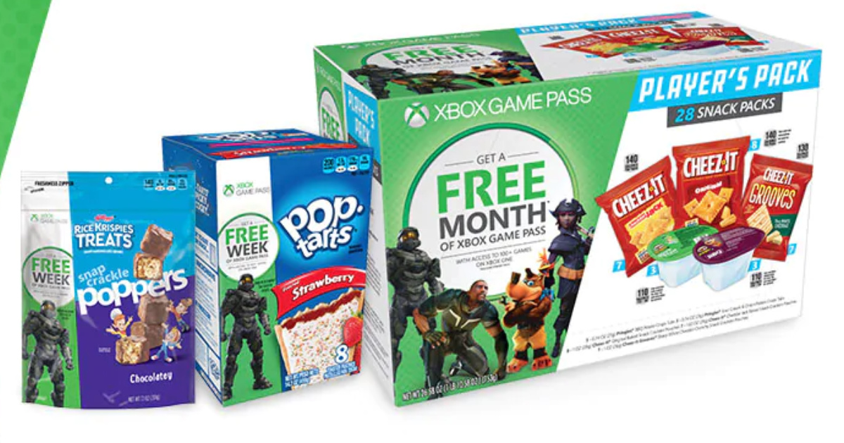 Kellogg's Products Valid on Xbox Games Passes