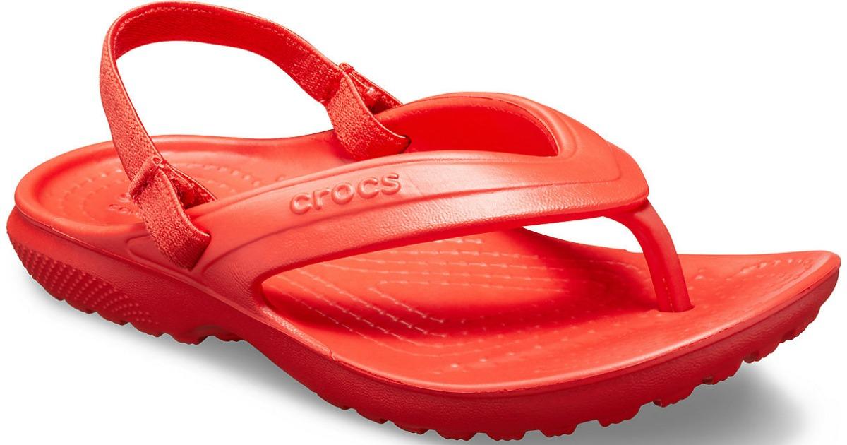 crocs fire classic flips