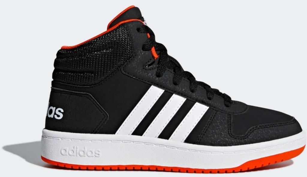 adidas brand sports shoes in black with white stripes