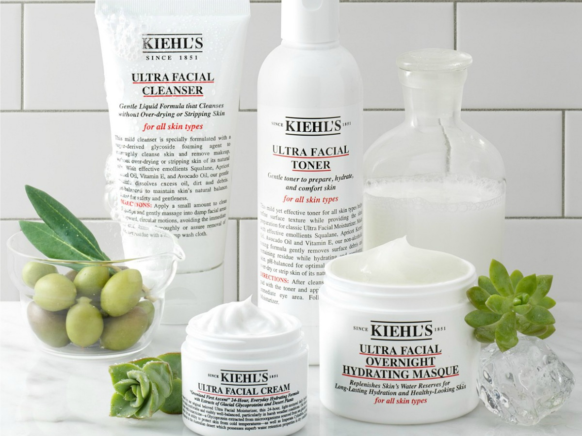 kiehls facial toner and cleansers