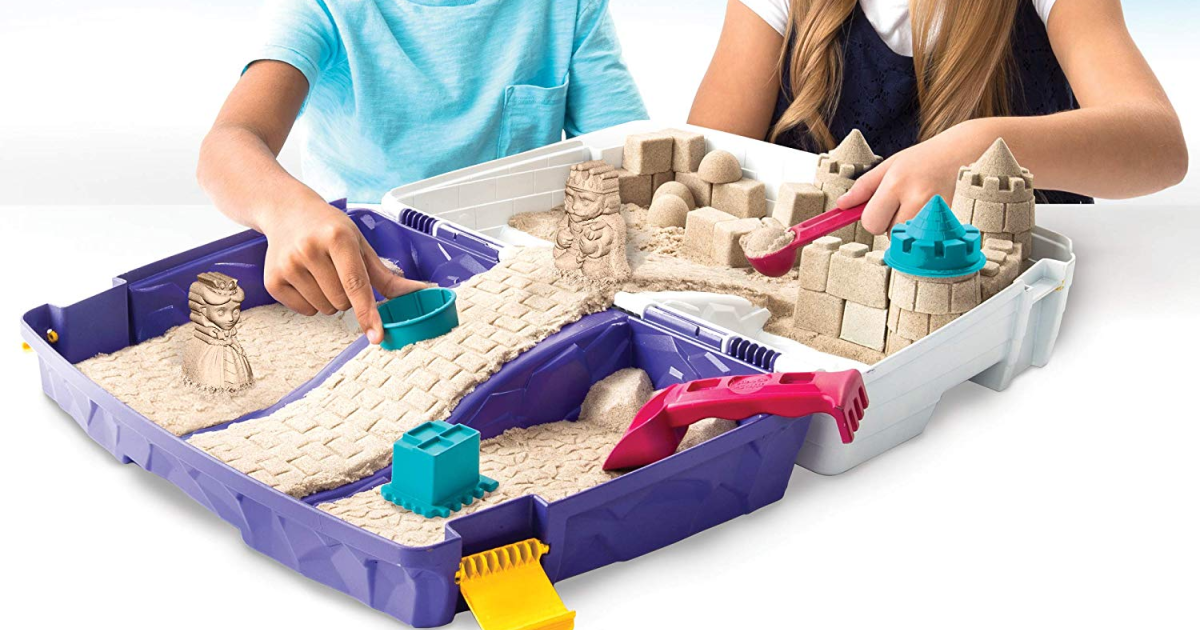 Kinetic Folding Sand Box W   2lbs Of Kinetic Sand Only  20