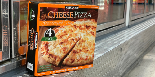 Kirkland Signature Cheese Pizza 4-Packs Only $4.99 at Costco (Just $1.25 Each)