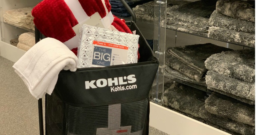 Kohl's Shopping Cart with items in it