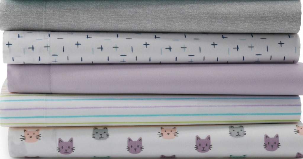 Stack of folders Twin XL size sheets from Kohl's The Big One brand