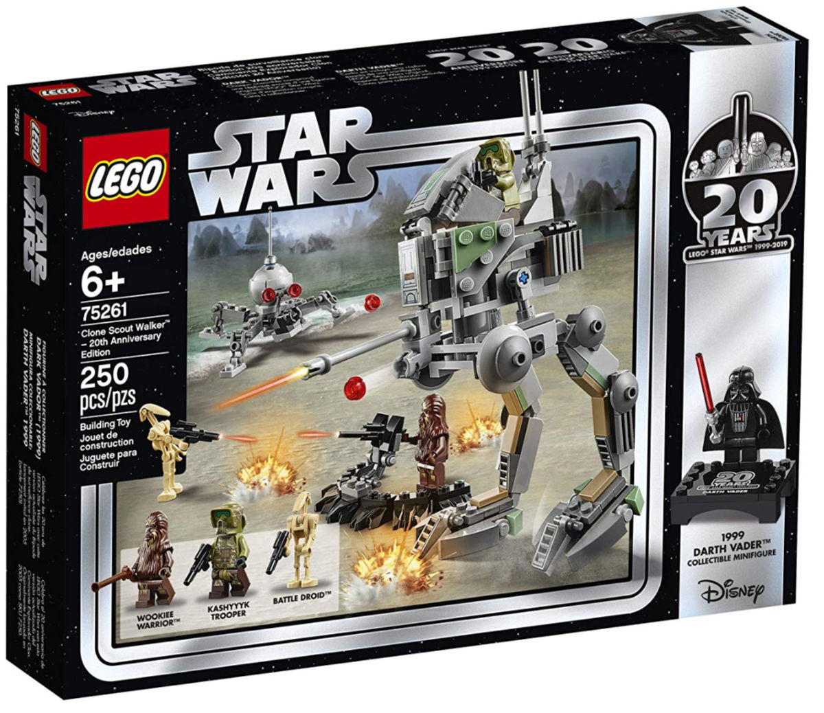LEGO Star Wars Clone Scout Walker 20th Anniversary Edition Building Kit box