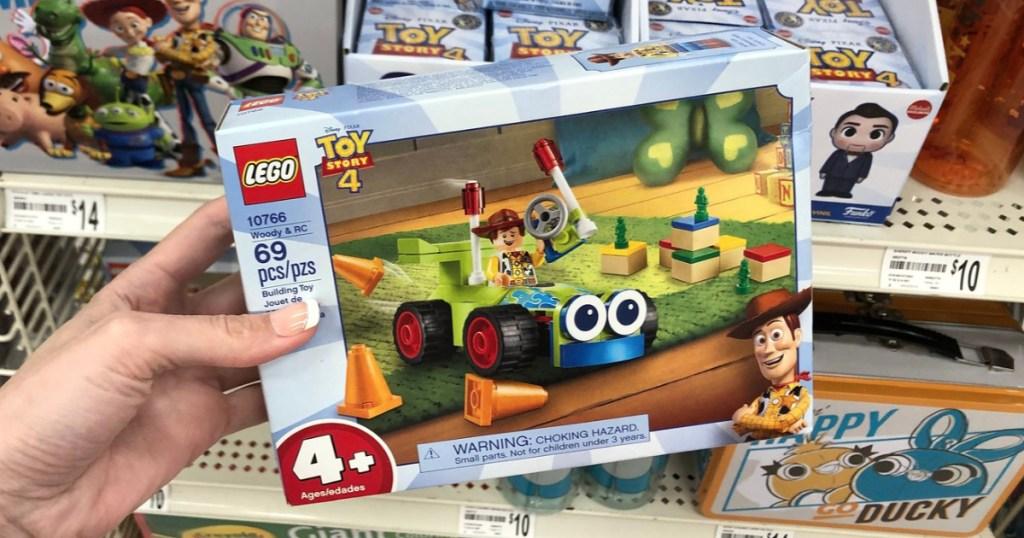 Hand holding LEGO Toy Story 4 Buidling Set
