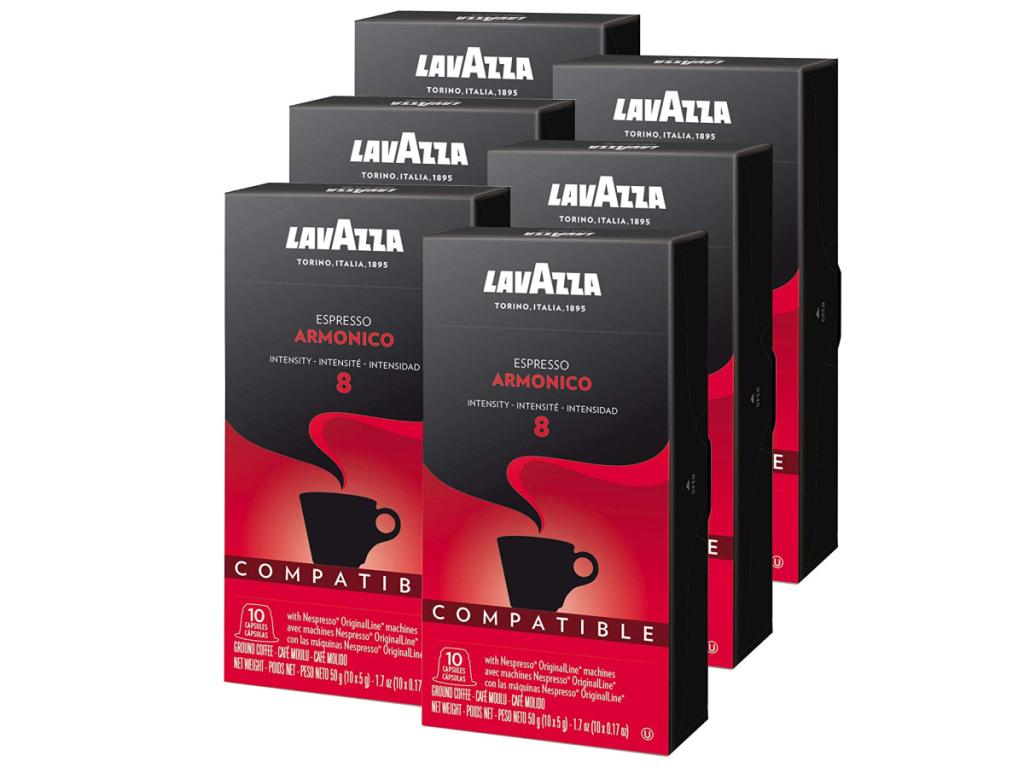 Lavazza Nespresso Capsules 60-Count Armonico Espresso Dark Roast Coffee