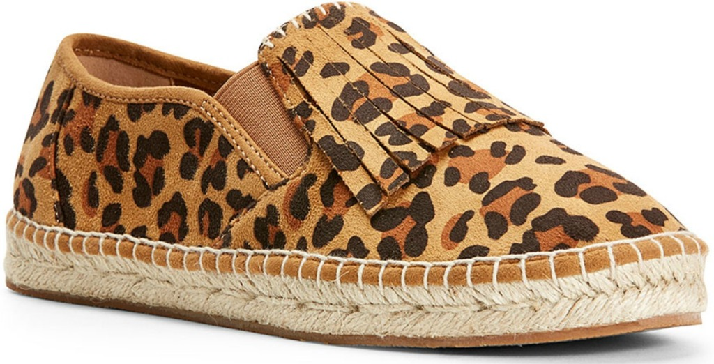 Leopard print women's loafer shoes with fringe from Ariat
