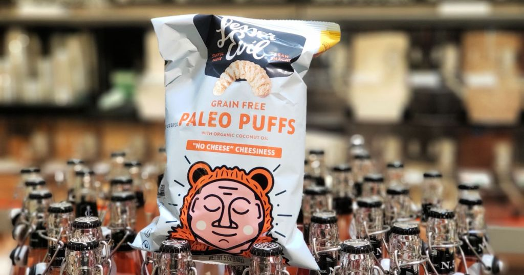 LesserEvil Paleo Puffs in whole foods
