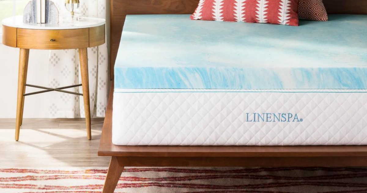 linenspa mattress on bed in room