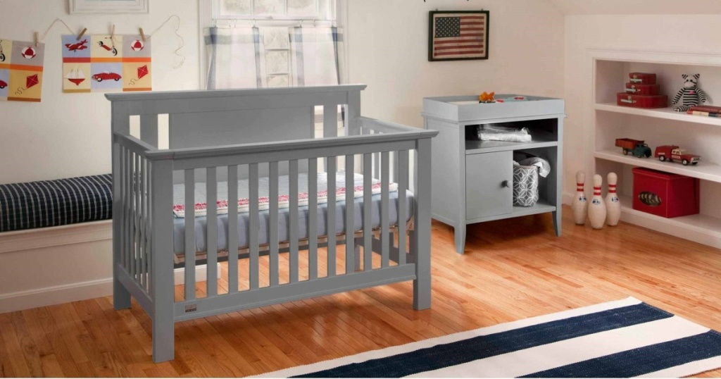 lolly convertible crib in nursery