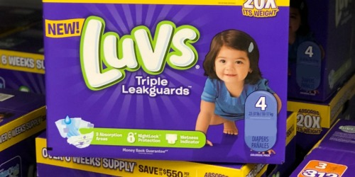 HUGE Luvs Diapers Boxes Only $20.98 Shipped (as Low as 8¢ Per Diaper)