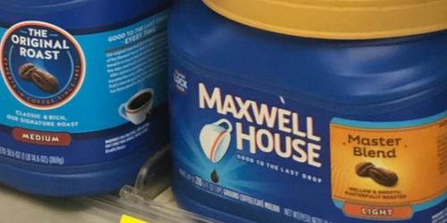 Maxwell House Light Roast Coffee Canister Only $4 Shipped on Amazon