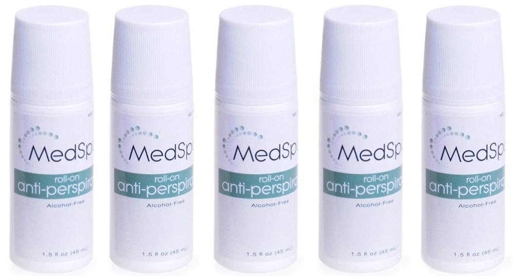 bottles of medspa deodorant