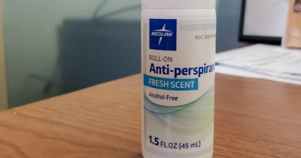 Medline Med Spa Roll-On Antiperspirant & Deodorant on table