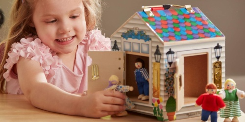 Melissa & Doug Take-Along Wooden Dollhouse Only $13.99 (Regularly $30)
