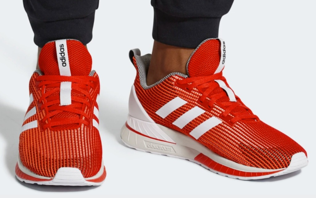 adidas brand Men's shoes in red and white