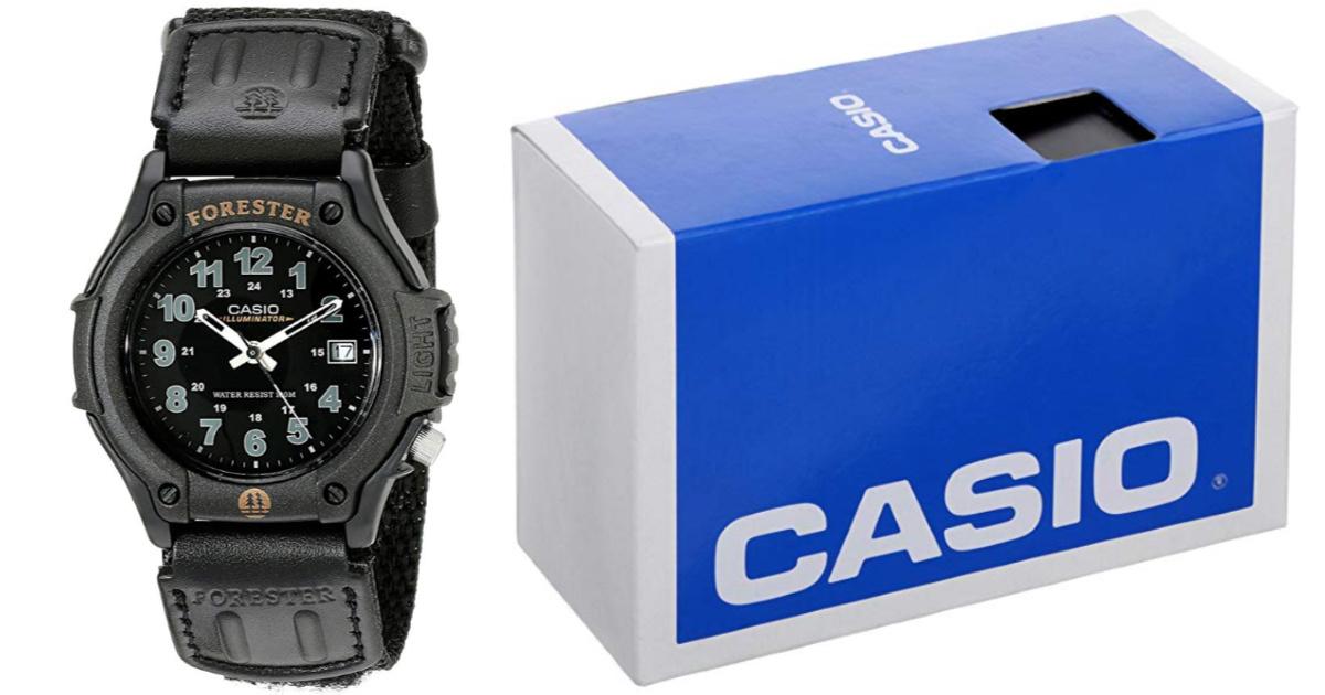 mens casio watch next to casio box