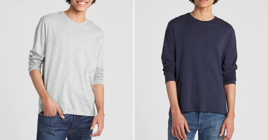 Men's Classic Long-Sleeve Tee from The Gap