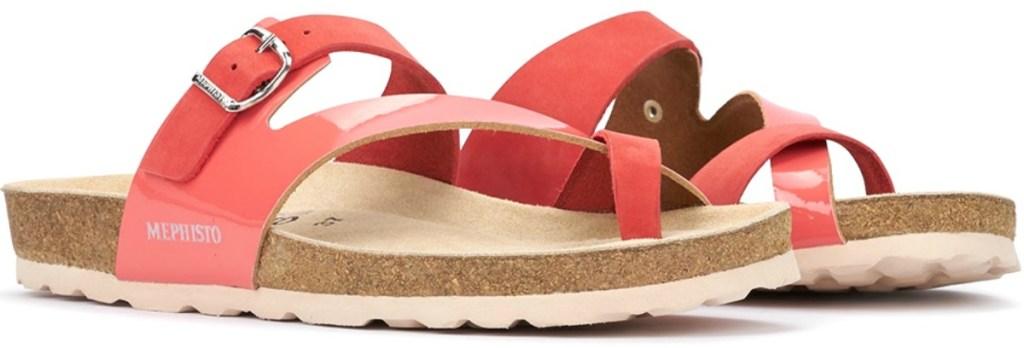 Mephisto brand Women's sandals in coral