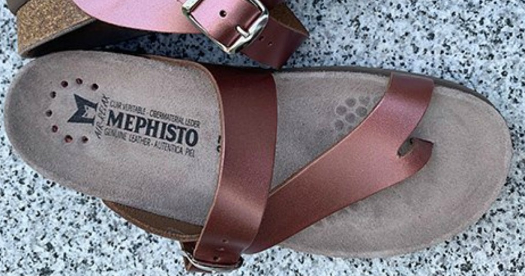 Mephisto brand Women's footwear soft pink leather sandal