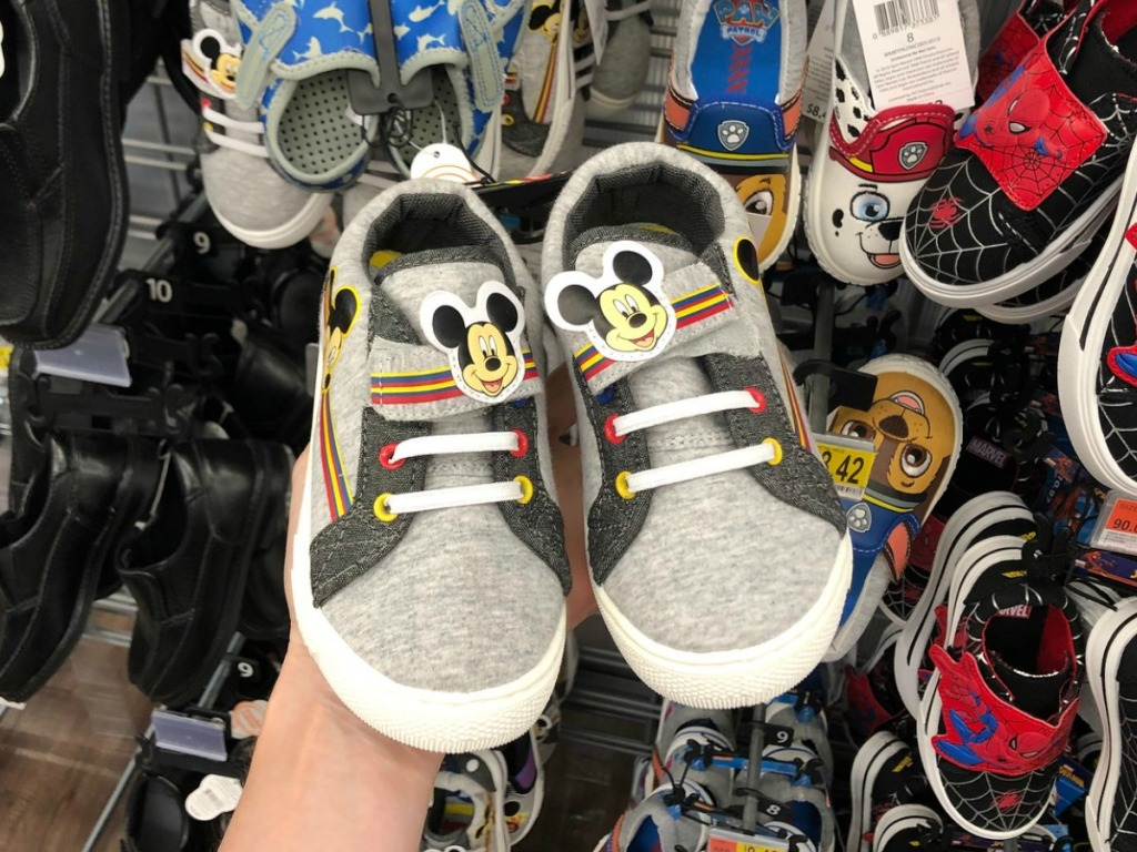 Mickey Shoes at Walmart