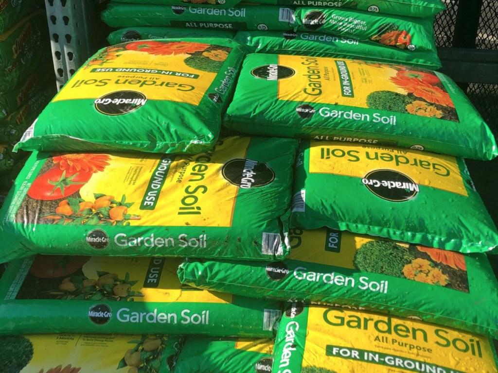 Miracle Gro Garden Soil at Home Depot